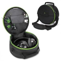 ENHANCE Gaming Headset Case for Wired & Bluetooth Wireless Headphones - Green