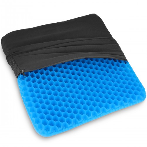 Gel Chair Seat Cushion for Office Chair - Orthopedic Polymer Gel Design - Blue