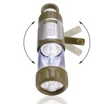 NIGHTLUX FL2 Hand Powered Lantern & USB Rechargeable LED Flashlight - Indoor, Outdoor & Emergency Use