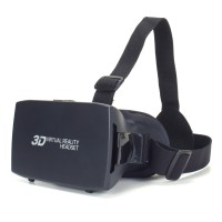 ENHANCE 3D VR Headset with Nose-Padding & Adjustable Head Strap Support