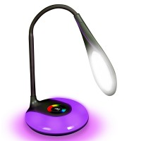 MoodBRIGHT Table Lamp with Brightness Touch Control , Adjustable Base Color & Rechargeable Battery