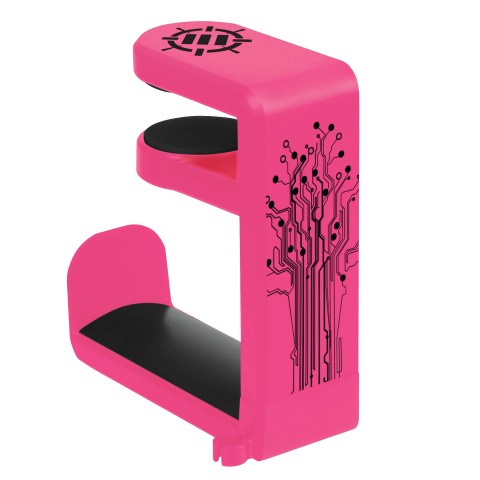 Gaming Headset Holder Hanger Mount by ENHANCE - Adjustable Under Desk Design - Pink