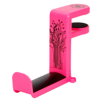 ENHANCE Desk Gaming Headset Holder with Clamp On Under Desk Design & Cable Clip - Pink