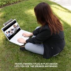 SonaVERSE USB Clip-on Laptop Speaker Soundbar - White