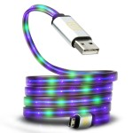DATASTREAM Micro USB Cable with Sparkling LED Current for Charging , Data Sync and Transfer