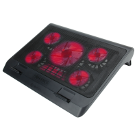 ENHANCE GX-C1 Laptop Cooling Stand with 5 LED Fans & Dual USB Ports for Data Pass Through