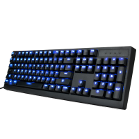 ENHANCE Scoria FPS Mechanical Gaming Keyboard with Blue LED Backlighting & TTC Brown Tactile Switches