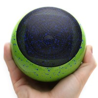 BlueSYNC OR3 Bluetooth Portable Wireless Speaker- Green Paint Splatter