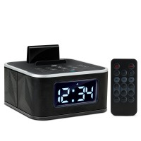 GOgroove BlueSYNC RST Alarm Clock Bluetooth Speaker with FM Radio , USB Charging and LED Display