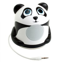 Groove Pal Portable Media Speaker w/ Glowing LED Base & 3.5mm Jack - Panda Jr.