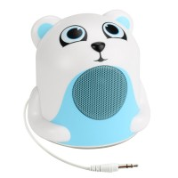 Groove Pal Portable Media Speaker w/ Glowing LED Base & 3.5mm Jack - Polar Bear Jr.