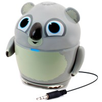 Groove Pal Portable Rechargeable Speaker w/ Dual High-Excursion Drivers -Koala