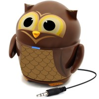 Groove Pal Portable Rechargeable Speaker w/ Dual High-Excursion Drivers - Owl