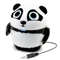 Groove Pal Portable Rechargeable Speaker w/ Dual High-Excursion Drivers - Panda