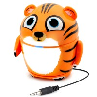Groove Pal Portable Rechargeable Speaker w/ Dual High-Excursion Drivers - Tiger