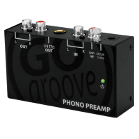 GOgroove Ultra Compact Phono Turntable Preamp (Preamplifier) with 12 Volt AC Adapter