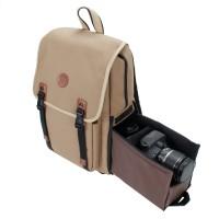 GOgroove Multifunction DSLR Camera Backpack - Tan