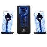 BassPULSE 2.1 Stereo Speaker System with Powered Subwoofer- Blue