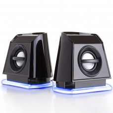 BassPULSE 2MX USB Powered 2.0 Computer Speakers - Blue