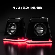 BassPULSE 2MX USB Powered 2.0 Computer Speakers - Red