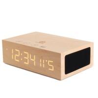 BlueSYNC TYM Real Wood Bluetooth Speaker & Alarm Clock - Light