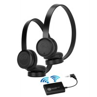 GOgroove Wireless Bluetooth Headphones TV Connection Kit with Plush Lightweight Leather Ear Cups and Transmitter