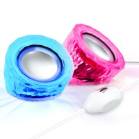 SonaVERSE LYT LED Color-Changing USB Computer Speakers with In-Line Volume Control & Passive Woofers