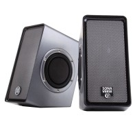 SonaVERSE O2 USB Computer Speakers with Dual Side-Firing Passive Woofers