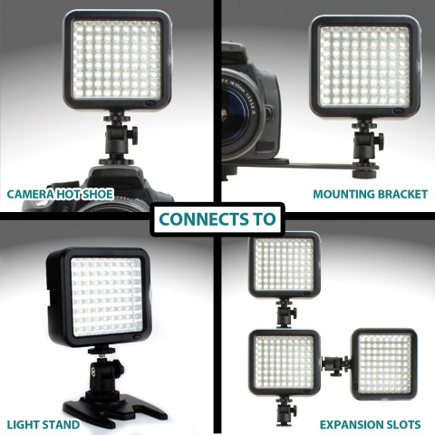 Camera Light Panel w/ High-Power LED Lights , Color Filters & Mounting Options
