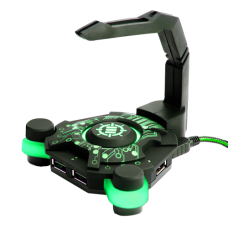 ENHANCE GX-B1 Gaming Mouse Bungee and Active 2.0 USB Hub - Green