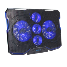 ENHANCE Cryogen Gaming Laptop Cooling Pad - 5 Quiet Cooler Fans and 2 USB Ports