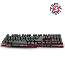 ENHANCE Voltaic GX-K3 Gaming Keyboard Backlit Gaming Keyboard with 104 Hybrid Switches , Multimedia Hotkeys & 3 LED Backlight Colors