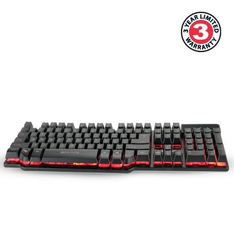 ENHANCE GX-K3 Gaming Keyboard with 104 Hybrid Switches & 3 LED Backlight Colors - Black