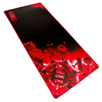 ENHANCE Pathogen GX-MP2  XXL Extended Gaming Mouse Mat / Pad ( 31.5 x 13.75 Inches ) - Red