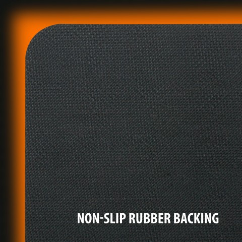 Hard Gaming Mouse Pad with ABS Plastic Surface & Non-Slip Rubber Backing - Black