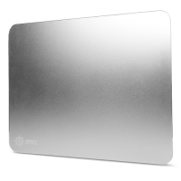 ENHANCE Aluminum Mousepad with Natural Rubber Backing & Low-Friction Tracking Surface - Silver