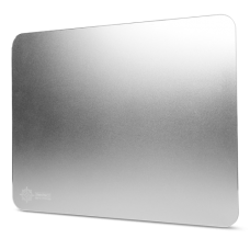 Aluminum Mouse Pad with Natural Rubber Backing & Low-Friction Tracking Surface