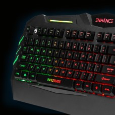 ENHANCE Infiltrate KL1 LED Gaming Keyboard - Multi Color Backlit Keyboard