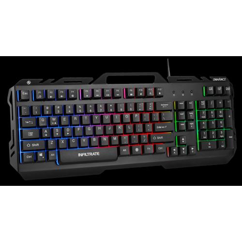 ENHANCE Infiltrate KL2 Membrane Gaming Keyboard-Black