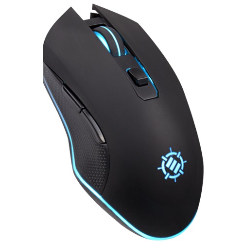 ENHANCE Infiltrate Gaming Mouse - Multi-Color LED Lighting with 4 DPI Levels - Black
