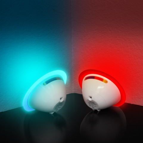 ENHANCE MoodBRIGHT CST Color Projection Mood Light with LED Bulb , Color Changing Control Strip & USB or Battery Power