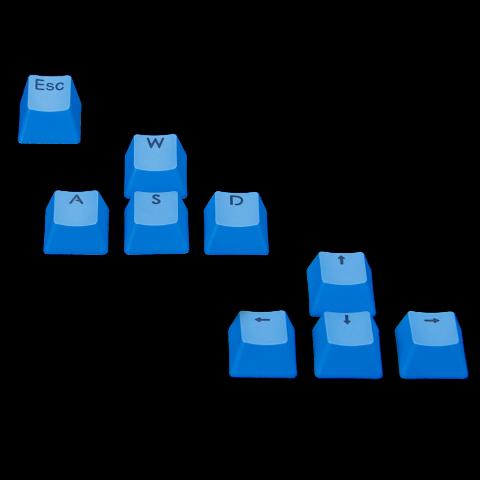 ENHANCE Gaming Keyboard Keycaps Upgrade Kit - WASD & Arrow Key with Cleaning Kit - Blue