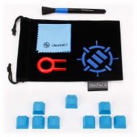 Enhance Gaming Mechanical Keyboard Keycap Mod Kit with Keycap Puller, Dust Brush & Fiber Cloth - Blue