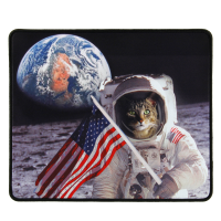 Enhance XL Gaming Mouse Pad with Anti-Fray Stitching and Non-Slip Rubber Grip - Astronaut Cat