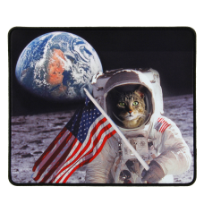 ENHANCE XL Funny Large Cat Gaming Mouse Pad with Patriotic Cat Astronaut