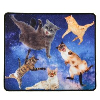 Enhance XL Gaming Mouse Pad with Anti-Fray Stitching and Non-Slip Rubber Grip - Cats in Space
