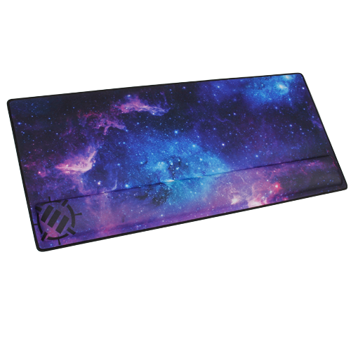 ENHANCE Large Extended Gaming Mouse Pad with Memory Foam Wrist Rest-Galaxy XXL