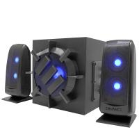 ENHANCE S21 Computer Speaker System - 2.1 Powered Subwoofer with 80W Peak, LED Satellite Speakers