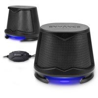 ENHANCE SB2 High Excursion Computer Speakers with LED Lights - Blue