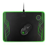 ENHANCE PowerUP LED Mouse Pad + Gaming Mouse Wireless Charging System - Compatible with Qi Devices